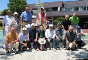 親睦ゴルフ大会の参加者