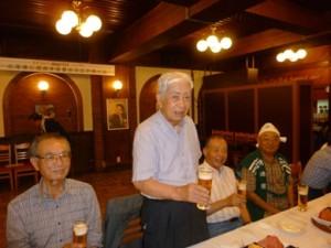能瀬誠夫君(S21)の開会のご挨拶